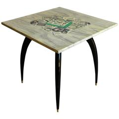 Piero Fornasetti Italian Libri Dining Table