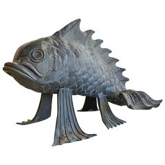 Monumental Bronze Fish Sculpture