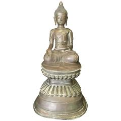 Antique Burmese Bronze Buddha, 18th Century, Awa