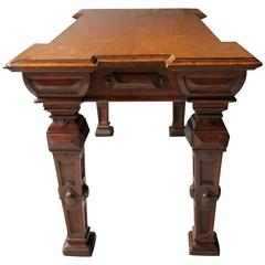 Very Fine Early Victorian Elizabethan Revival Oak Centre Table, circa 1845