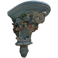 Ornate Fiberglass Garden Swedish Corbel Bracket