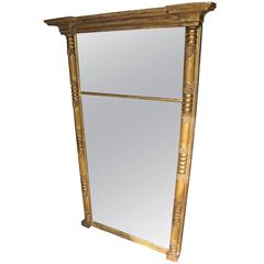 Large Early 19th Century Regency Period Gilt Pier Glass Mirror