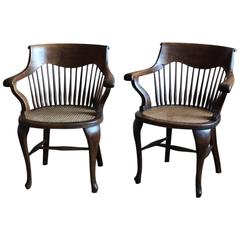 Pair of English Desk Chairs by Schoolbred & Co