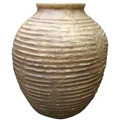 Large Faux Terracotta Grecian Style Urn