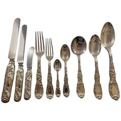 Chrysanthemum by Tiffany Sterling Silver Flatware Set for 12 Service 116 Pieces