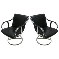 Pair of Swivel Chairs by Gardner Leaver for Steelcase, circa 1965, American