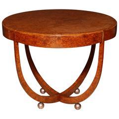 Art Deco Burl Floating Center Table