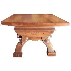 Country or Provincial Farmhouse Table with Date 1808