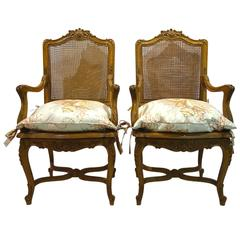 Pair of Mid-20th Century Italian Armchairs in the French Régence Style