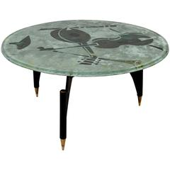 Coffee Table by Dube 'Duilio Barnabé' Fontana Arte, Italy, circa 1950