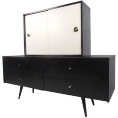 Paul McCobb Credenza with Cabinet Top For Planner Group