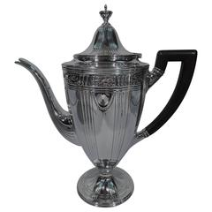 Antique Neoclassical Sterling Silver Coffeepot by Tiffany