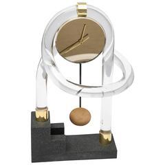 Lucite Abstract Shelf Clock