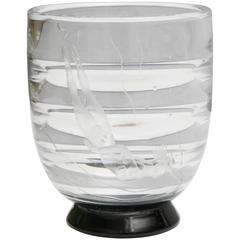 Art Deco ''Diver'' Orrefors Vase