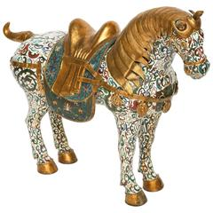 Enormous Cloisonné Figure of a Horse