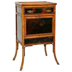 Superb 19th Century Bamboo Lacquered Cabinet or Night Stand
