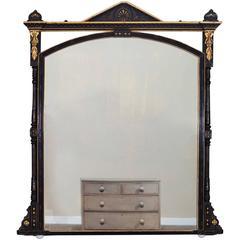 Enormous Antique English Aesthetic Mirror, circa 1880