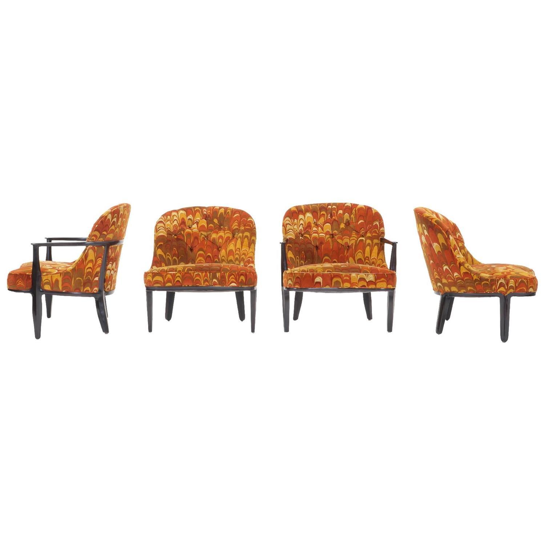 four janus chairs edward wormley for dunbar original jack. Black Bedroom Furniture Sets. Home Design Ideas