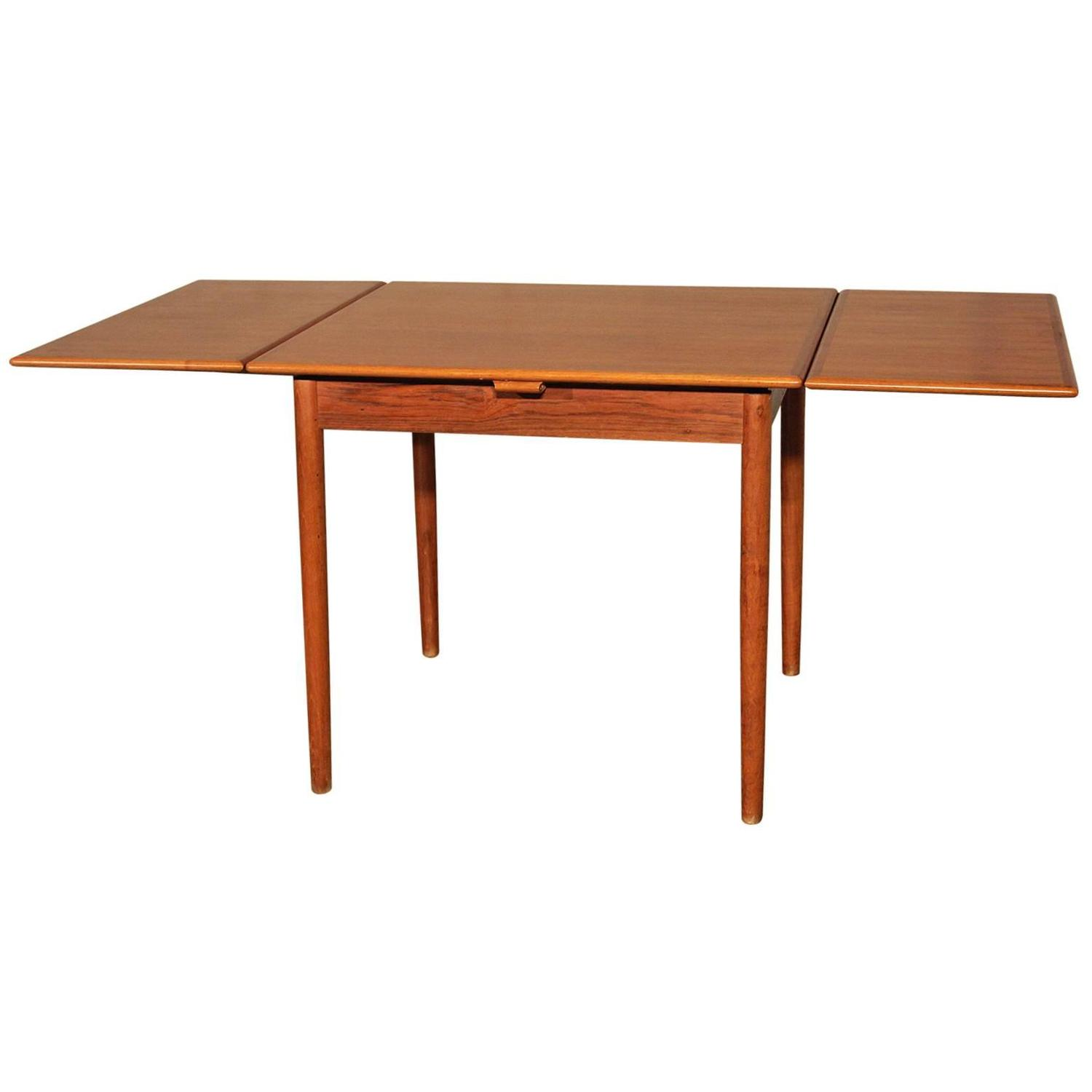Danish Modern Teak Square Expanding Dining Table At 1stdibs