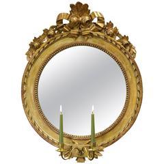 Gustavian Late 18th Century Round Girandole Mirror