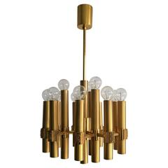 Gaetano Sciolari Chandelier, 1970 Brass and Bronze