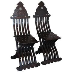 Pair of 19th Century Fold-Up Middle Eastern Chairs