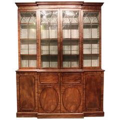 George III English Breakfront Bookcase