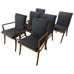 Set of Six T.H. Robsjohn-Gibbings Dining Chairs
