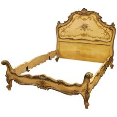 20th Century Queen-Size Bed Made by Lacquered Wood