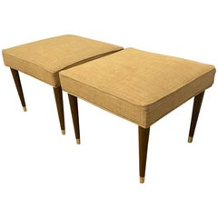 Pair of Midcentury Italian Square Benches