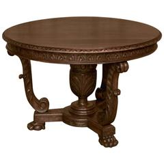 19th Century French Louis XIV Walnut Center Table