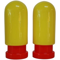 1960s Swedish Glass Capsule Table Lamps