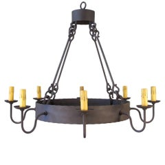 Iron Ring Chandelier, Large