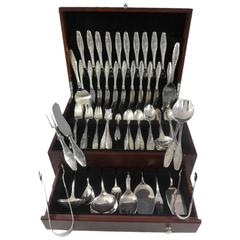 Diamant Aka Diamond by A. Dragsted Danish Sterling Silver Flatware Set 118 Pcs