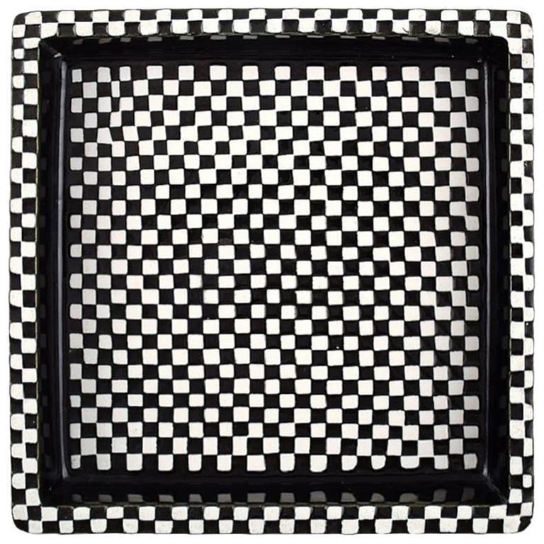 """Stig Lindberg, Gustavsberg, """"Domino"""" Dish in Ceramics. 1950s"""