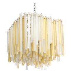 Rare Multi-Tube Hanging Light by Venini