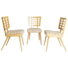 American Modern Maple Dining Side Chairs