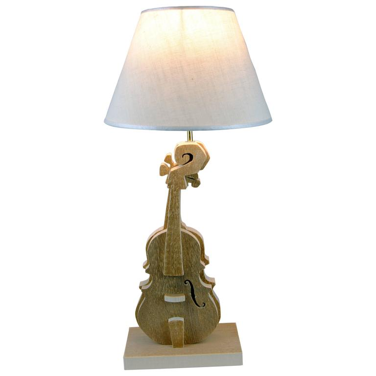 violin wood table lamp by michelangeli italy for sale at 1stdibs. Black Bedroom Furniture Sets. Home Design Ideas
