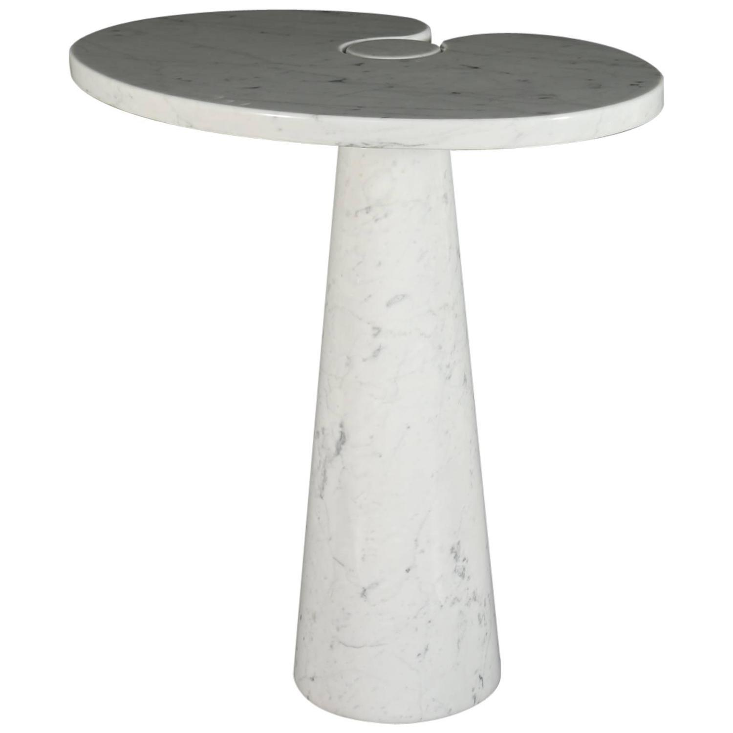 white carrara marble 39 eros 39 coffee table by angelo mangiarotti for skipper at 1stdibs. Black Bedroom Furniture Sets. Home Design Ideas