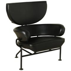 Metal Leather Three Elements Armchair by Franco Albini and Franca Helg for Poggi