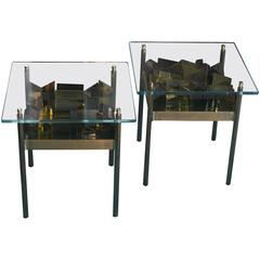 """""""Diamante"""" Flair Edition Set of Two Side Tables"""