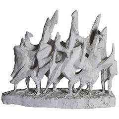 1960s Belgian Abstract Sculpture