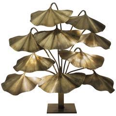 Tommaso Barbi, Floor Lamp, Polished Brass, circa 1970, Italy
