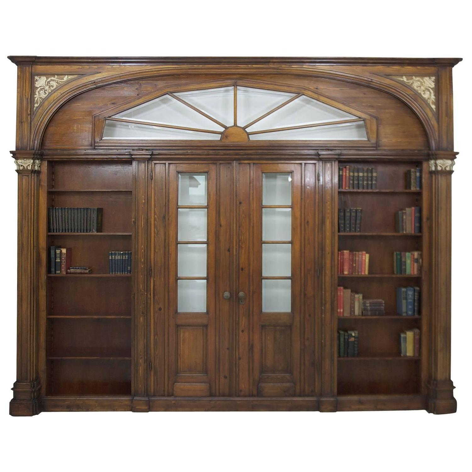 Large antique architectural pass through with bookcases - Oversized exterior doors for sale ...