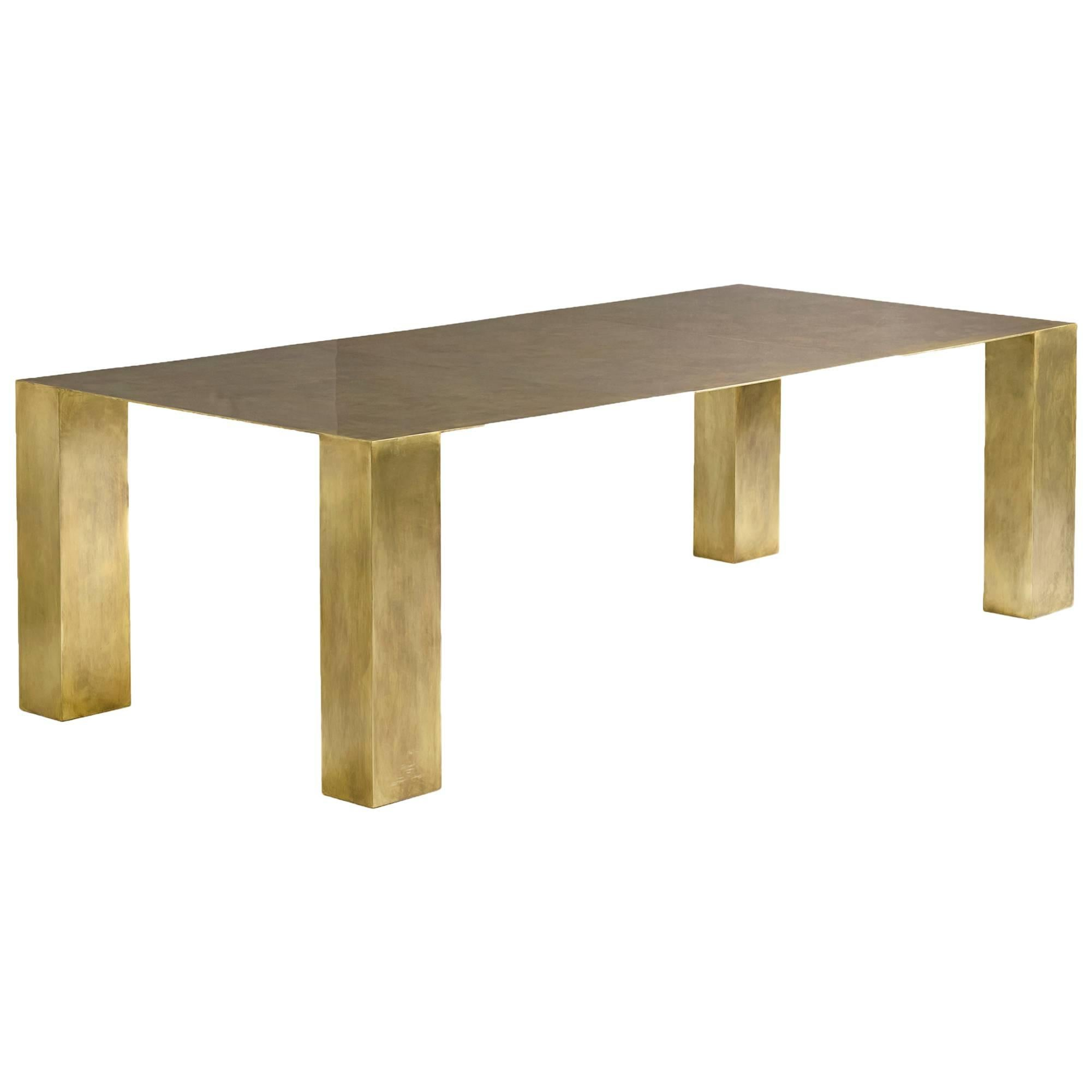 Brian Thoreen Modernist Brass Dining Table