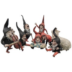 """Set of Cold Painted Antique """"Snow White & the Seven Dwarves"""" Vienna Bronzes"""