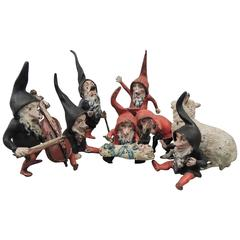 "Set of Cold Painted Antique ""Snow White & the Seven Dwarves"" Vienna Bronzes"