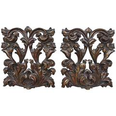 Pair of Polychromed Wall Carvings from Spain, 1900s