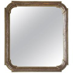 Louis Philippe Silver Giltwood Mirror