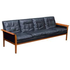 Hans Olsen Leather Sofa